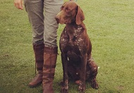 Lindsay Seaton and Ralph, the German Shorthaired Pointer